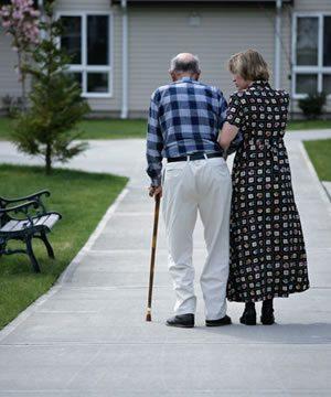 Elder health Man with Cane