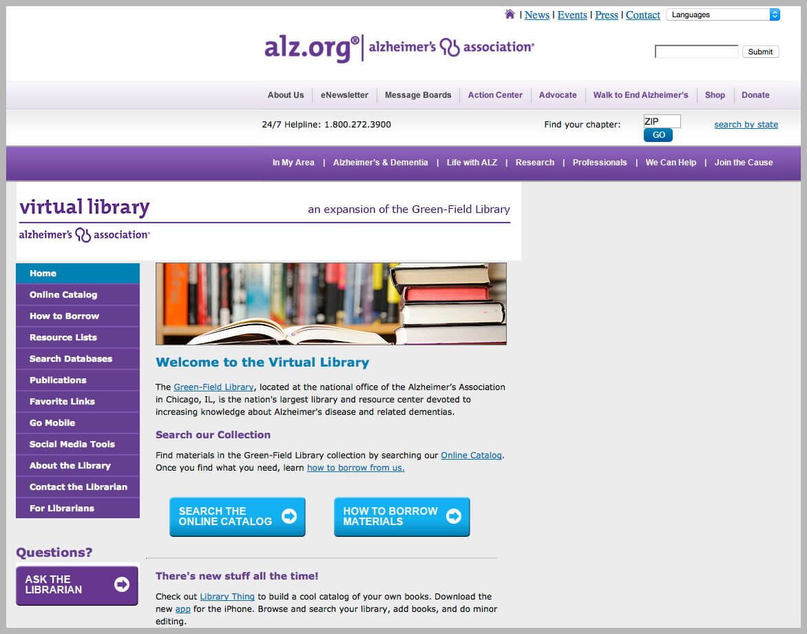 Alzheimer's and Dementia Online Library