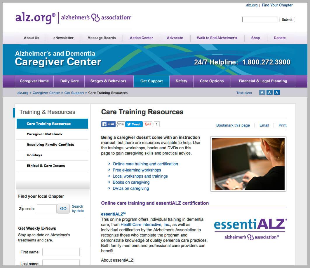 Alzheimer's Online Workshops