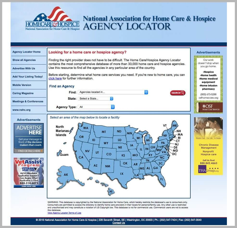Medicare and VNA Agency Locator