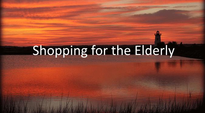 shopping for the elderly