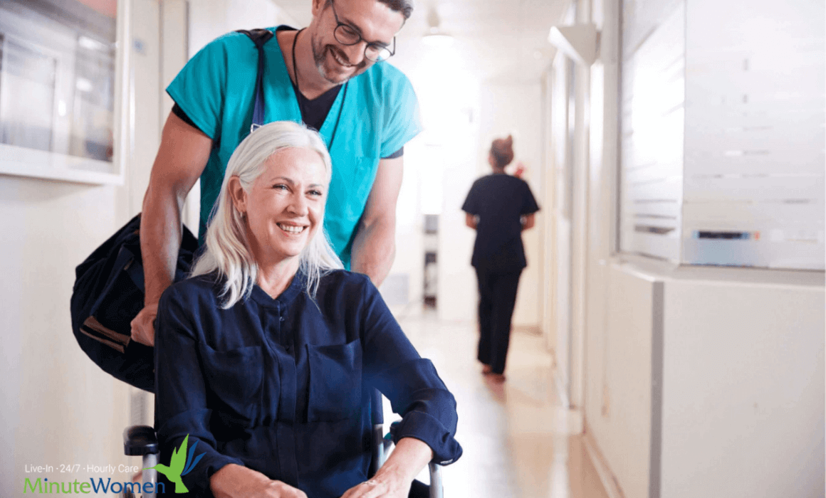 Elderly woman leaving hospital and will need a fast turn around tie fore home care services